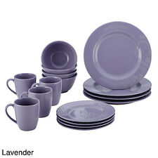 16 Pc Dinnerware Set Dinner Plates Dishes Bowls Mugs Round Kitchen Dining Cups