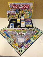 Parker Monopoly Classic Board Game The Simpsons Edition Checked & Complete
