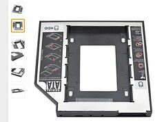 """For Laptop ODD Aluminum Universal 2nd HDD Caddy 9.5mm SATA 3.0 2.5"""" SSD HDD Cas1"""