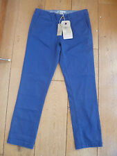 FAT FACE BRIGHT PURPLE CROPPED CHINO CAPRI TROUSERS UK 6 XXS STRETCH ULTRAVIOLET