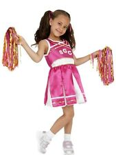 Childrens School Cheerleader Girls Fancy Dress Kids Party Costume Outfit