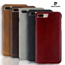 * ORIGINAL* PIERRE CARDIN LEATHER Luxury Back Cover Case For Apple iPhone 7 PLUS