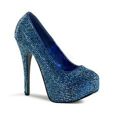Escarpin Strass Teeze Bleu PLEASER