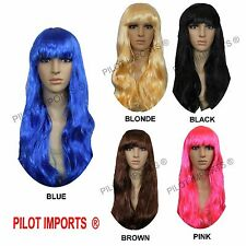 Fancy Dress Lady Long Curly Full Hair Wigs Cosplay Costume Halloween Party Wig