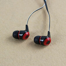 3.5mm AURICOLARI CUFFIE Stereo sports Headset IN EAR MP3 SMARTPHONE MICROFONO