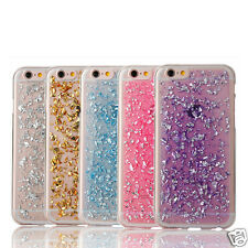 Ultra Thin Gold Foil Bling Glitter Soft Silicone TPU Back Cover Case For iPhone