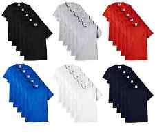 Classictops pack of 10 plain t shirt mens t shirts womens 100% cotton t-shirts