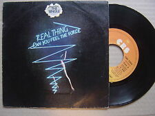 REAL THING can you feel the force / niños del ghetto SPANISH 45 CBS 1978