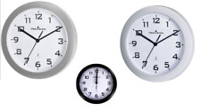 Precision PREC0060 Radio Controlled Analogue Wall Clock 3 COLOURS NEW