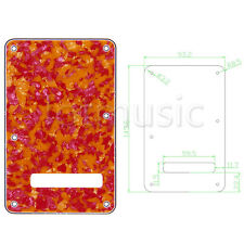 Guitar Back Plate Tremolo Trem Cover for Fender Strat Replacement Parts 3 Ply