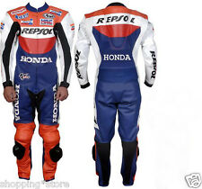 HONDA REPSOL BIKER SUIT MOTORCYCLE LEATHER SUIT MOTORBIKE LEATHER JACKET TROUSER