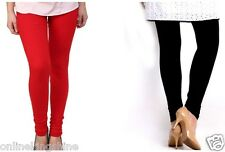 Women Cotton Lycra Leggings Combo Pack of 2 (Free Size) Black and red/leggings