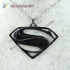 High Quality Superman Necklace Stainless Steel BLack Men Pendant + Chain.......