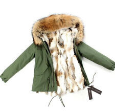 UK DISPATCH 2016 F/W  REAL FUR Lining and FUR Hood Coat Army Jacket Parka UK 6