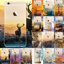 Ultra Sottile TPU Morbida Gomma Silicone Retro Custodia Cover per iPhone 6 6S 7
