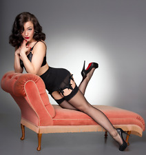 Retro French Seamed nylon stockings RHT Cuban 10 Denier Novelty Super Sexy