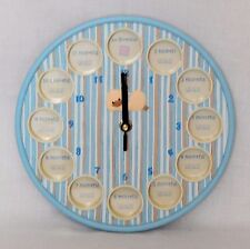 DIDDY DUCK 1st YEAR PHOTO CLOCK - GREAT NEW BABY/CHRISTENING GIFT