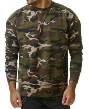 Sixth June M2235 Sweater Camo Sweatshirt Distressed Destroyed Camouflage S-XL