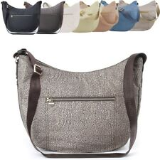 Borsa Luna Bag Borbonese Medium in Jet O.P e cuoio 934757/296