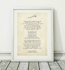 260 Wicked The Musical - Defying Gravity - Song Lyric Poster Print - Sizes A4 A3