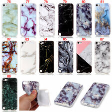 Marble Slim Rubber Soft TPU Skin Case Cover For iPod Touch 5 5th Gen 6 6th Gen
