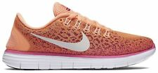 NIKE FREE RN DISTANCE 827116 800 WOMEN'S ORANGE & PINK UK 4-6