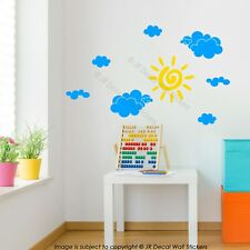 Sun Cloud wall Decals Cloud themed Nursery Wall Art Stickers Baby's Room Decor