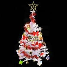 2 FT Artificial Tabletop Christmas Pine Tree White Small Xmas Tree for Office