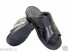 Shophills Branded Leather Moccacino Chappal in Black Color
