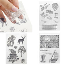 DIY Silicone Tampons Timbre Transparent Scrapbooking Carte Manuel Pochoirs Outil