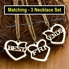 0b44db0352 Matching Best Friends Heart Necklaces Xmas Gifts For Her Daughters Sisters  Niece