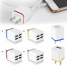 Dual 1/2/4 Ports USB EU/US Wall Charger Power Adapter for Smart Phone Tablet PDA