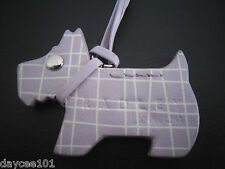 RADLEY LONDON LILAC / WHITE LEATHER DOG TAG FOR RADLEY BAG NEW GORGEOUS CLASSIC