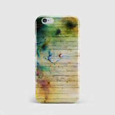 3D Full Cover Printed Case for iPhone - Grunge Wood Stain Effect