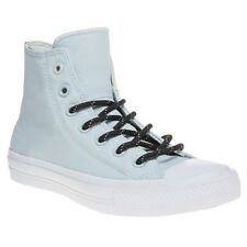 New Womens Converse Blue Chuck Taylor All Star II High Canvas Trainers Lace Up