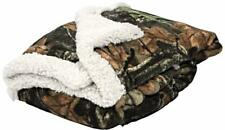 NEW Woodland Camo Plush White Fleece Baby Mini Throw Gift Blanket