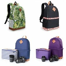 Women's Leisure Nylon DSLR SLR Camera Bag Padded Bag Travel Backpack For Canon