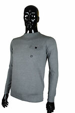 New Duck And Cover Brady Grey Marl Jumper Sweatshirt Top Pull Over Crew Neck
