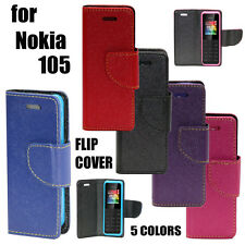 DIARY STYLE FLIP FLAP COVER CASE For NOKIA 105 / 105 DUAL