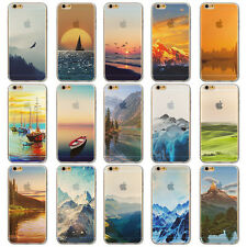 "Endless Mountains Painted Soft TPU Back Case For Apple iPhone 6 6s ""4.7""inch"