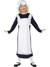 Childrens Victorian Poor Peasant Maid Girls Book Week Fancy Dress Kids Costume