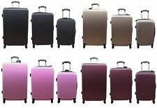 HARD SHELL SPINNER SUITCASE ABS LIGHT LUGGAGE TROLLEY TRAVEL CABIN CASE 4 WHEELS