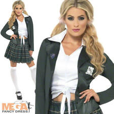 Preppy School Girl St Trinians Fancy Dress Ladies Uniform Womens Costume Outfit