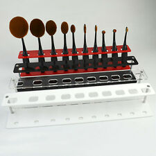 4 Color Oval Makeup Brushes Holder Stand Organizer Toothbrush Rack Cosmetic Tool