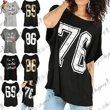 Womens 76 86 69 print varsity T Shirt Womens I`m a Limited Edition Print Top