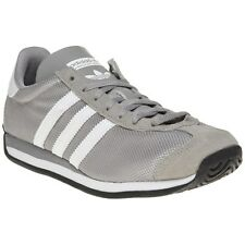 New Boys adidas Grey Country Og Textile Trainers Retro Lace Up