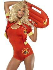 Baywatch Lifeguard Fancy Dress Costume Ladies Red TV and Film Costumes