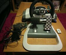 MICROSOFT ORIGINAL XBOX 360 WIRELESS STEERING WHEEL AND FOOT PEDALS