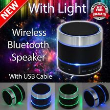 Bluetooth Wireless Mini Portable Speaker for iPhone iPad MP3LED Light Dancing(z1