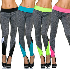 Donna Pantaloni Tuta sportivi Leggings sport push-up casual moda S 32 34 36